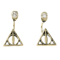 Harry Potter Deathly Hallows Top & Bottom Earrings