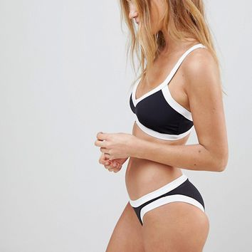 Seafolly Block Party Sweetheart Bralette Bikini Top at asos.com