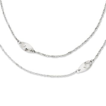 Stainless Steel Multi Chain w/Polished Swirls 25in Layered Necklace