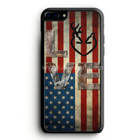 Deer Camo With Love Flag iPhone 7 Plus Case | aneend