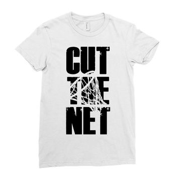 cut the net Ladies Fitted T-Shirt