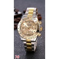 "Hot Sale ""Rolex'' Fashion Ladies Men Personality Movement Business Quartz Watches Lovers Wrist Watch 7# I-JYXCX-YB"