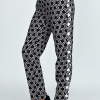 Eva Contrast Side Slim Leg Trousers