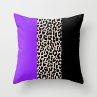 Leopard National Flag IX Throw Pillow by M Studio