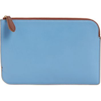 Diane von Furstenberg Medium Leather Zip Pouch | Nordstrom