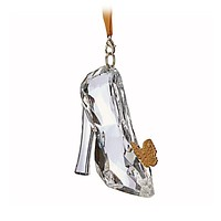 Disney Parks Live Action Film Cinderella Slipper Holiday Ornament New with Tags