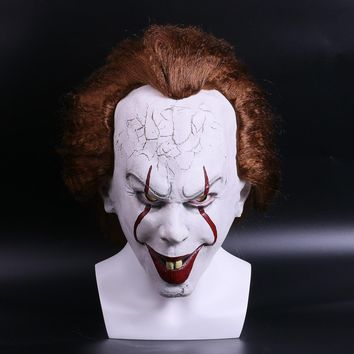 2017 Movie Stephen King's Pennywise Clown Joker Mask Tim Curry Horrible Halloween Party Cosplay Masks Mask Clown Latex Mask