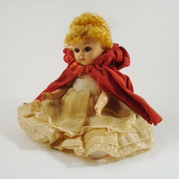 Vintage Doll / Little Red Riding Hood Doll
