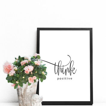 Quote print, Quote poster, Quote wall art, Wall sayings, Positive quotes, Positive affirmation, Black and white wall art, Typography artwork