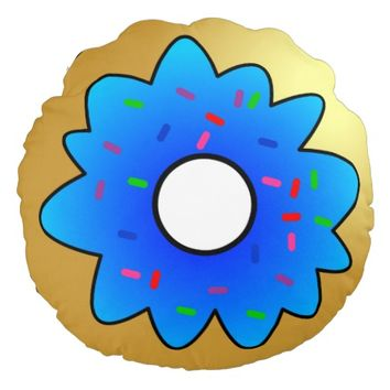 Cute Doughnut with Blue Frosting and Sprinkles