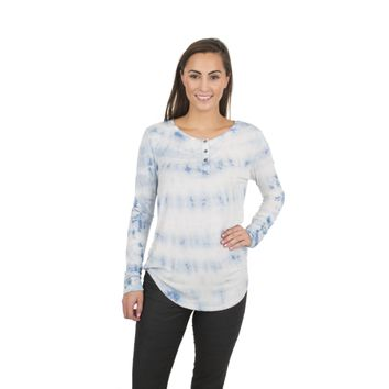 April- Women's Crew Neck Henley Soft Premium Long Sleeve Tee