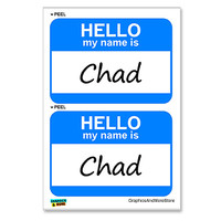 Chad Hello My Name Is - Sheet of 2 Stickers