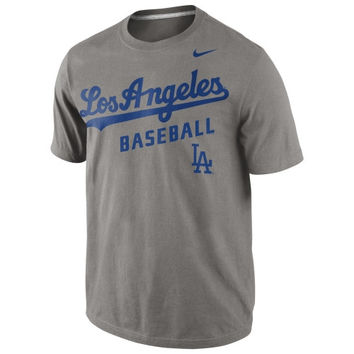 Nike L.A. Dodgers 2014 Away Practice Performance T-Shirt - Ash