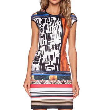 Printing high stretch Slim dress