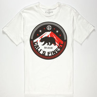 Cali's Finest Northern Light Mens T-Shirt White  In Sizes