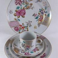 Mottahedeh Lowestoft Rose Service for Two Fine China