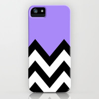 PURPLE COLORBLOCK CHEVRON iPhone Case by nataliesales | Society6