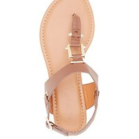 BAMBOO METAL HARDWARE THONG SANDALS