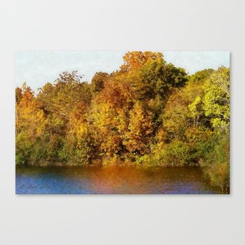 Autumn Blaze Canvas Print by Theresa Campbell D'August Art