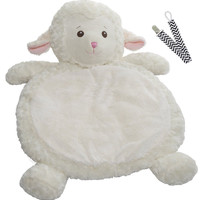 Mary Meyer 02552 Snuggly Lamb Bestever Baby Mat with Pacifier Clip