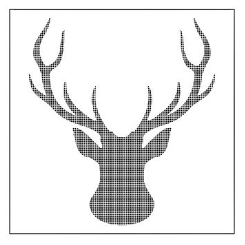 Elk Head Deer Flower Reusable Stencil Airbrush Painting Art Cake Spray Mold DIY Decor Crafts