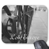 MousePad: European Bridge and Love Lock Mouse Pad