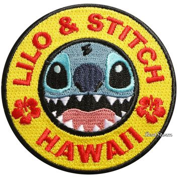 Licensed cool Disney Lilo & Stitch Hawaii Embroidered IRON ON Patch Badge Loungefly NWT