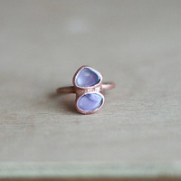 Raw Amethyst Ring Raw Crystal Ring Raw Stone Ring Rough Gemstone Ring Birthstone Ring Statement Ring Cocktail Ring Raw Mineral RIng Size 6