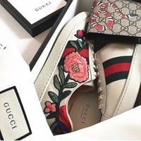 Gucci classic men and women fashion sports casual wild casual shoes F