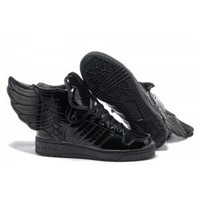 $129.99 Jeremy Scott Shoes - Adidas Jeremy Scott Wings 2.0 Shoes Black Patent JS28