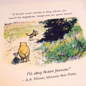 Keep Me In Your Heart Winnie the Pooh Quote by prettypetalspaper