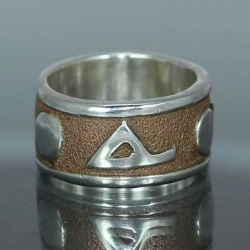 Organic  Mans Wedding  Band Copper Recycled Silver Rustic Wedding Band Jewelry Metalwork Ring