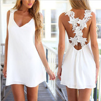 Adorable White Slip Dress