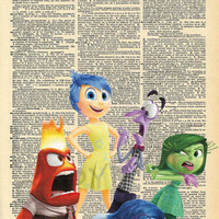 Inside Out Disney Dictionary Art Print