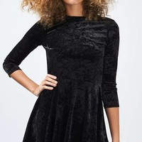 Low Back Velvet Skater Dress