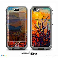 The Oil Pastel Lake Sunset Skin for the iPhone 5c nüüd LifeProof Case