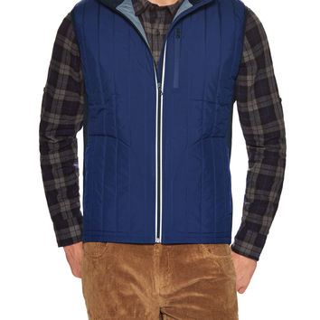 Victorinox Men's Quilted Grafton Eco Primaloft Vest - Blue -