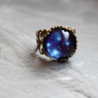 Starry Eyed Lacy Ring  Wanderlust Collection  by DittyDrops
