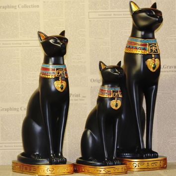 Egyptian Goddess Cat Shape Resin Wine Rack/Bottle Holder 2 Sizes