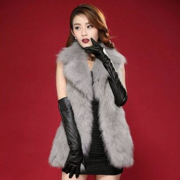 Autumn and Winter Faux Fur Vest Mink Fur Gilet Women Rabbit Fur Jacket Plus Size Fur Coats