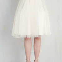 Pointe of View Skirt in Ivory | Mod Retro Vintage Skirts | ModCloth.com