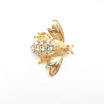 Brooch - Combination of White Swarovski Crystal Bee