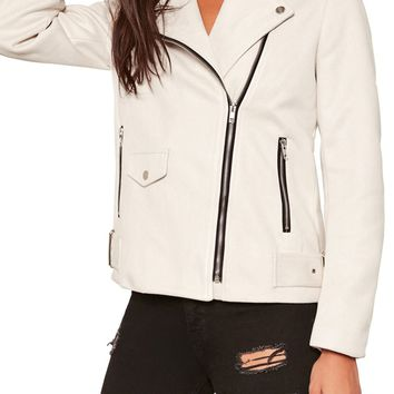Missguided Faux Sude Moto Jacket | Nordstrom