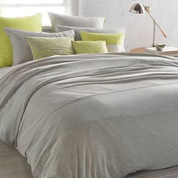 DKNY Fraction Duvet Cover in Heathered Grey