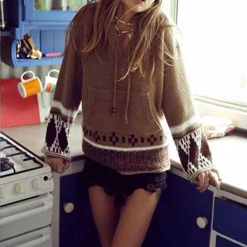 Pullover Sweater Autumn Knit Tops Hats [9357322500]