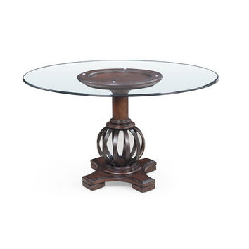 Bassett Mirror Grenadine Round Glass Dining Table