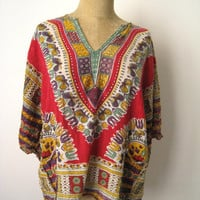 Vintage Indian Tunic  Festival Top  Caftan  by vintagefables