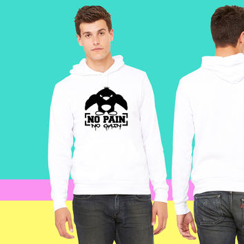 No Pain No Gain Penguin sweatshirt hoodiee