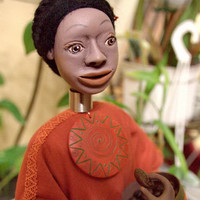 OOAK Author's dollart doll African girl BAHATI it by LanaDiNata