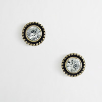 Factory crystal pinball stud earrings